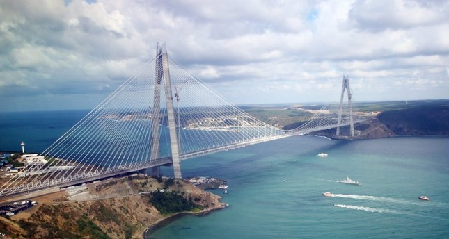 South Korean firms have been involved in a number of Turkey's megaprojects, including Yavuz Sultan Selim Bridge above, Eurasia Tunnel and Çanakkale 1915 Bridge.