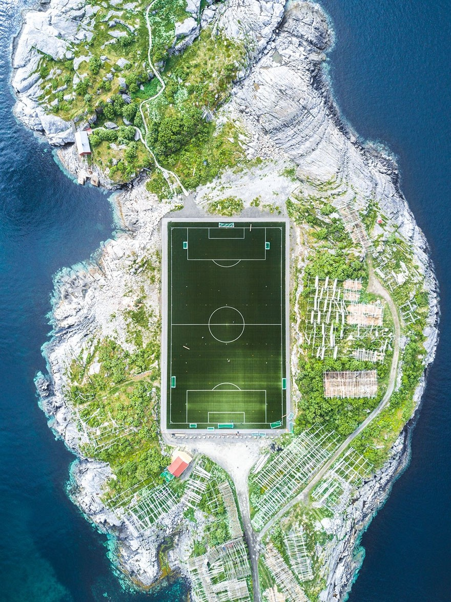 Henningsvær Football Field, Norway - 2nd place, Architecture and Urban Spaces
