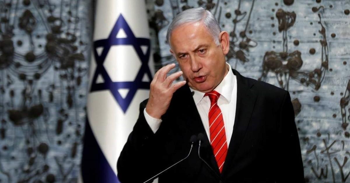 Israeli Prime Minister Benjamin Netanyahu speaks at the president's residence, Jerusalem, Sept. 25, 2019. (REUTERS Photo)