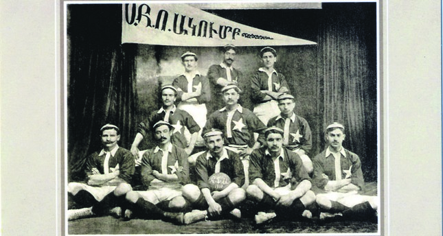A football team of the Armenian hunting club of İzmir, 1910.