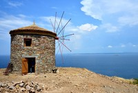 Centuries-old windmills restored on Bozcaada off Turkey's western coast