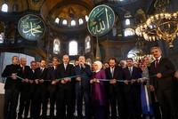 Erdoğan launches first classical Turkish arts biennial in Istanbul's Hagia Sophia