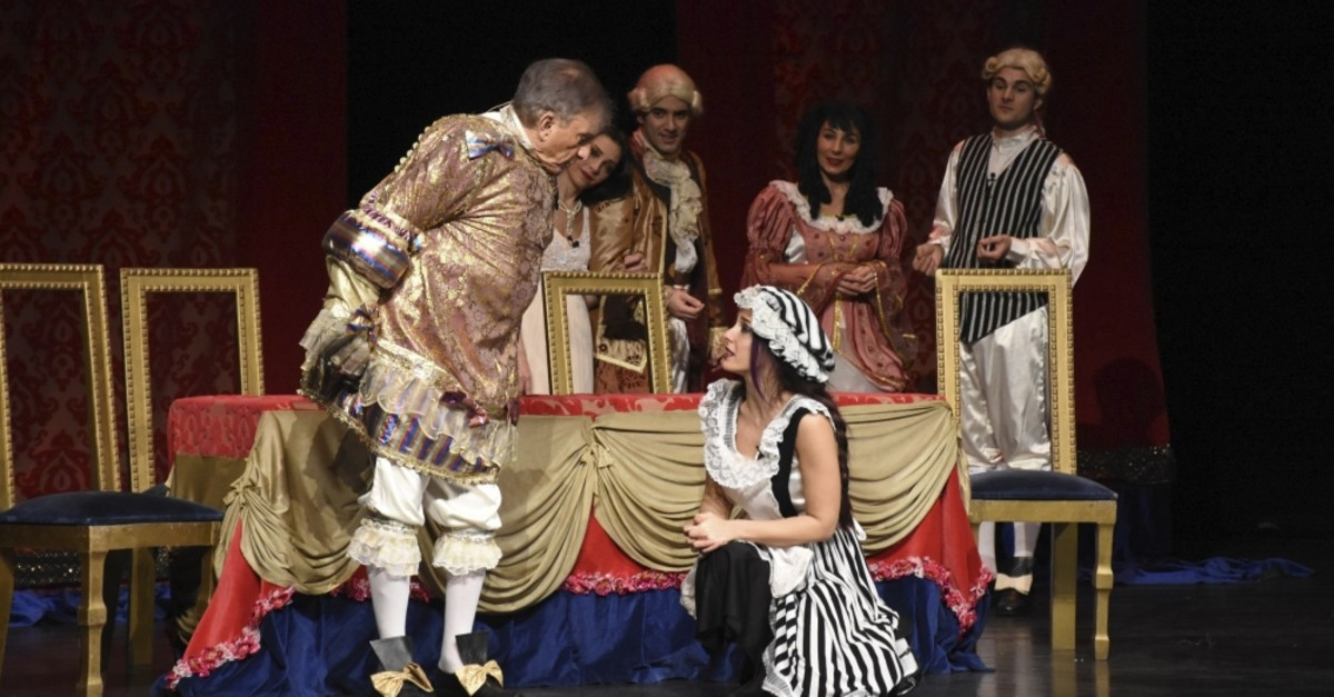 A scene from the play ,The Bourgeois Gentleman.,