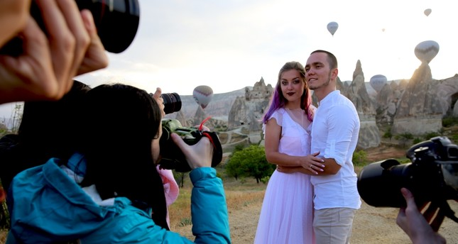 Cappadocia, an open-air photo studio for newlyweds