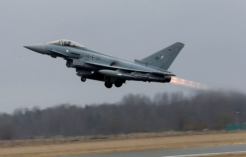 This file photo shows a German Air Force Eurofighter Typhoon takes-off during the air policing scramble in Amari air base, Estonia, March 2, 2017. (Reuters Photo)