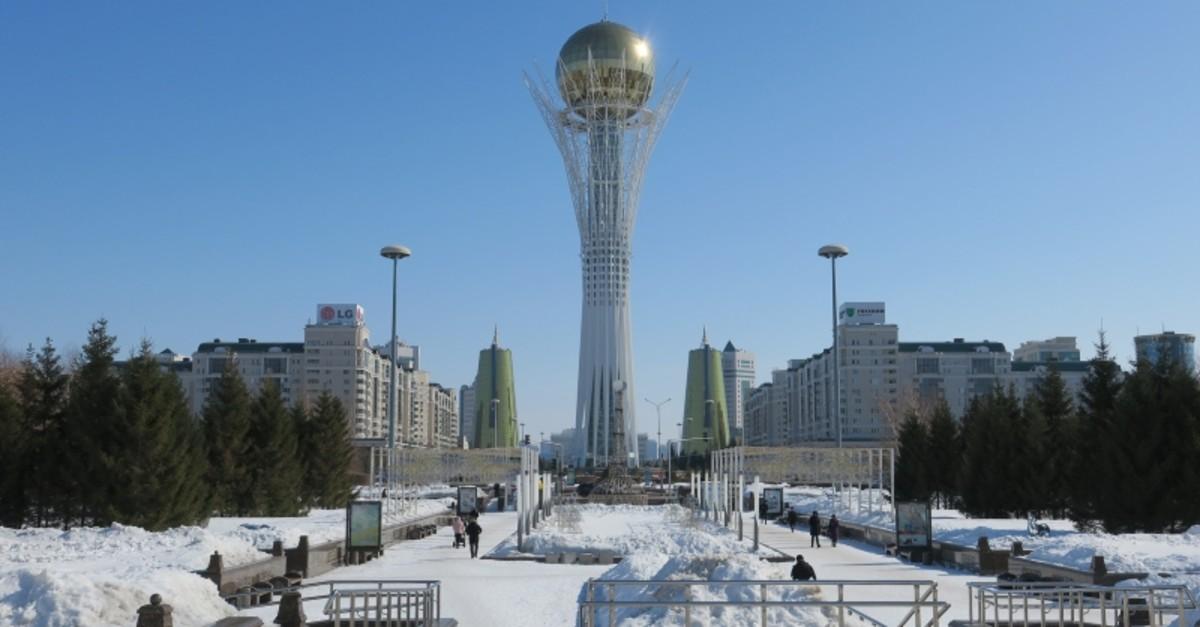 The Bayterek Tower in Astana. (AA Photo)