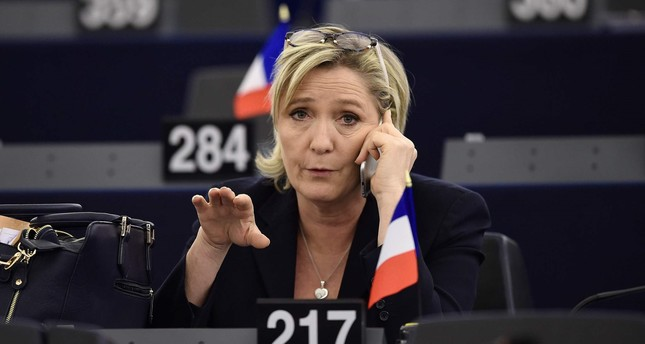 This photo taken on January 17, 2017 shows French Front National's President and presidential candidate for the 2017 election Marine Le Pen. (AFP Photo)