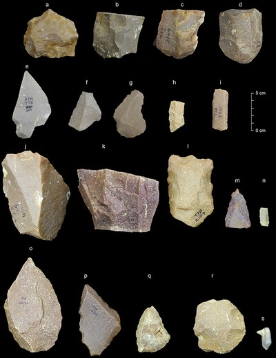This image provided by the Sharma Centre for Heritage Education, India in January 2018 shows a sample of artifacts from the Middle Palaeolithic era found at the Attirampakkam archaeological site in southern India (AP Photo)