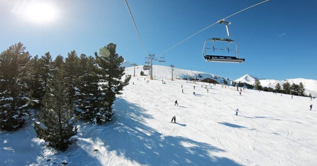 Skiers are seen on a slope at the mountain resort of Bansko in Bulgaria. (iStock Photo)