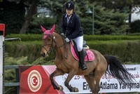 Young riders mark Children's Day with horse jumping