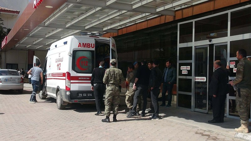 Four Turkish soldiers wounded in YPG terrorist attack have been taken to hospitals in southeastern Turkey's Gaziantep and Kilis province. Kilis, Turkey on March 6, 2017. (DHA Photo)