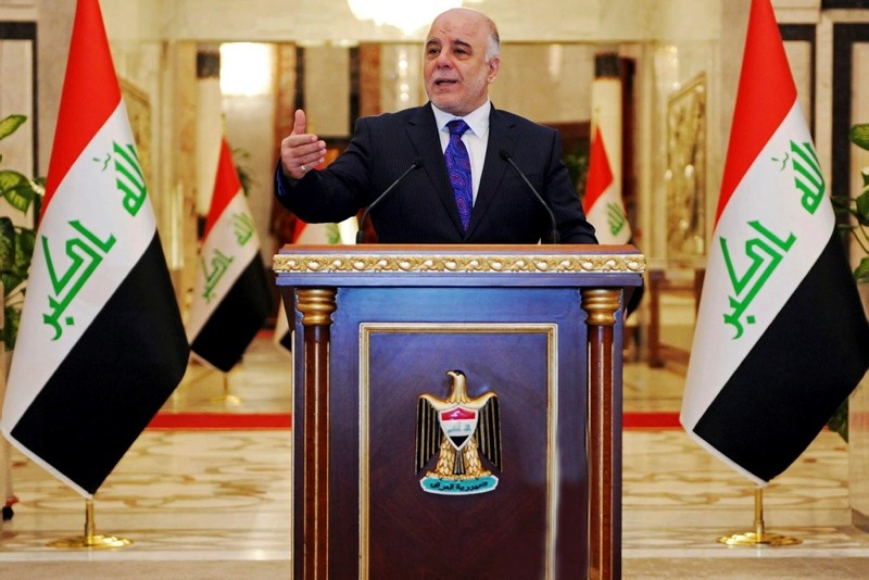 Iraqi premier-designate Haider al-Abadi speaks at his first press conference since accepting the nomination to be Iraqu00eds next prime minister, in Baghdad, Iraq, Monday, Aug. 25, 2014. (AP Photo)