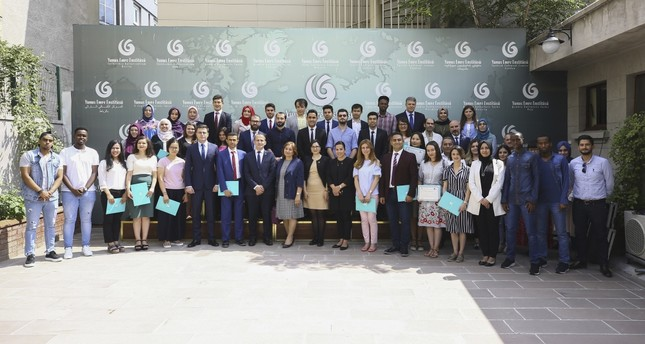 A number of the students graduated from a one-month Turkish teaching certificate program from the Yunus Emre Institute (YEE) at a graduation ceremony in the capital Ankara.