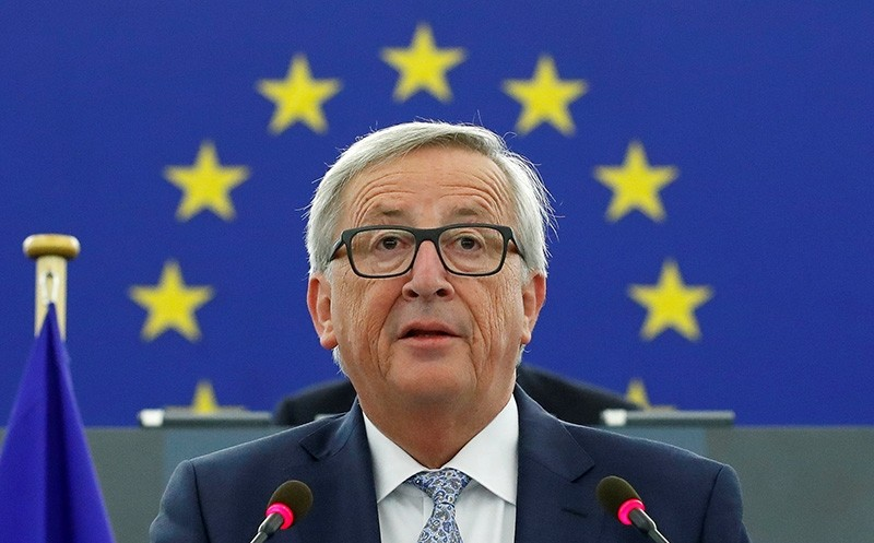 European Commission President Jean-Claude Juncker addresses the European Parliament during a debate on The State of the European Union in Strasbourg (Reuters Photo)