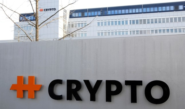 The logo of Crypto AG is seen at its headquarters in Steinhausen, Switzerland February 11, 2020. Reuters Photo