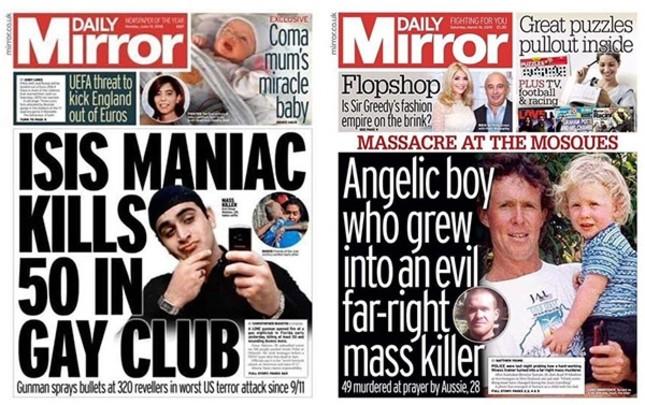 Daily Mirror harshly criticized for whitewashing New Zealand terrorist