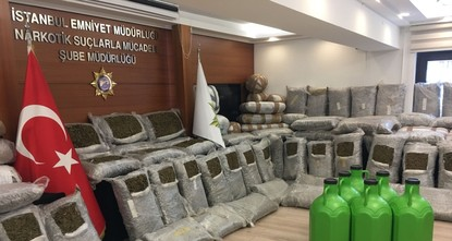 Istanbul police seize over 9 tons of narcotics in 2018