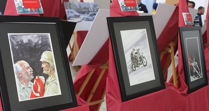 pAn art exhibition entitled Archer's Hill: 15 July Heroes (Okçular Tepesi 15 Temmuz Kahramanları) by Iranian painter Reza Hemmatirad opened yesterday in Ankara./p  pThe exhibition opened at the...