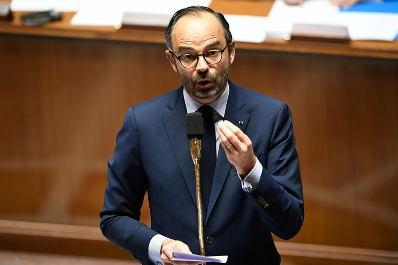 French Prime Minister Edouard Philippe addresses deputies during a session of questions to the Government  (AFP File Photo)