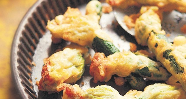 Stuffed squash blossoms is a favorite summertime dish in Turkey.