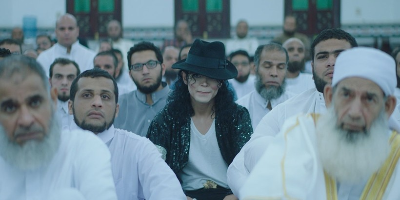 A scene from the Egyptian movie ,Sheikh Jackson,