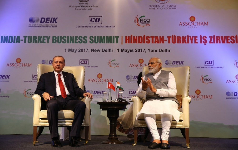 President Erdou011fan attended the Turkey-India Business Summit in New Delhi together with the Indian Prime Minister Narendra Modi and discussed business opportunities that could benefit both countries.