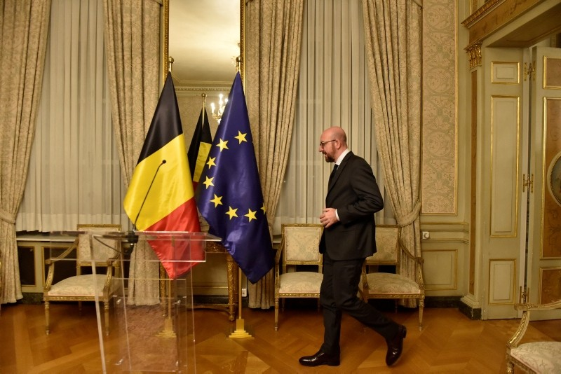 Belgium's Prime Minister Charles Michel arrives for a news conference in Brussels, Belgium, Dec. 8, 2018. (Reuters Photo)