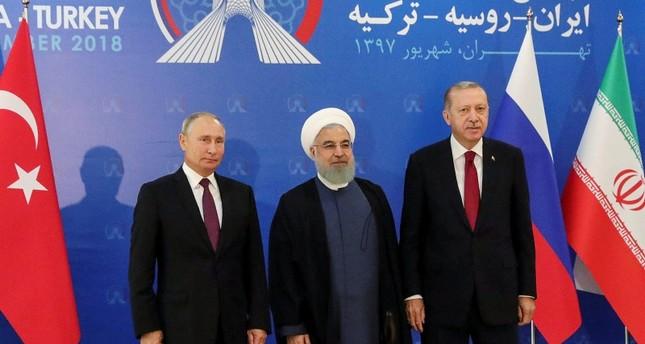 أردوغان يؤكد خلال قمة طهران على ضرورة إعلان وقف إطلاق نار في إدلب