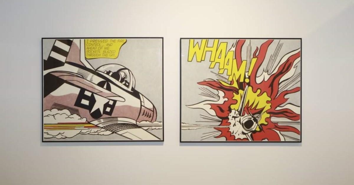 Pop Art adorns the walls at the UNIQ Expo.