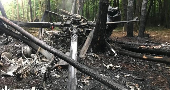 صورة لحطام المروحية (رويترز)