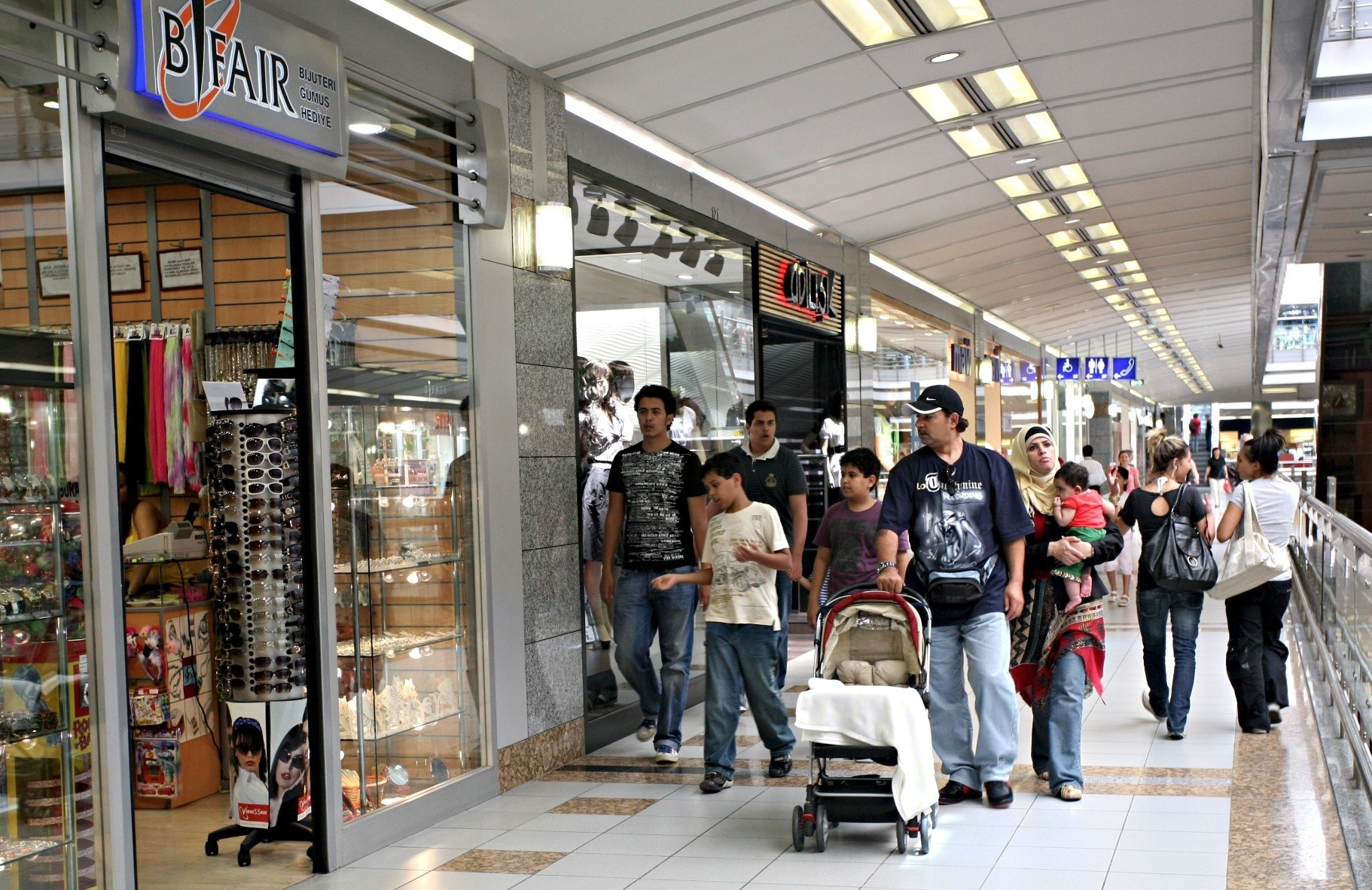 Istanbul malls are a top destination for tourists who love shopping.