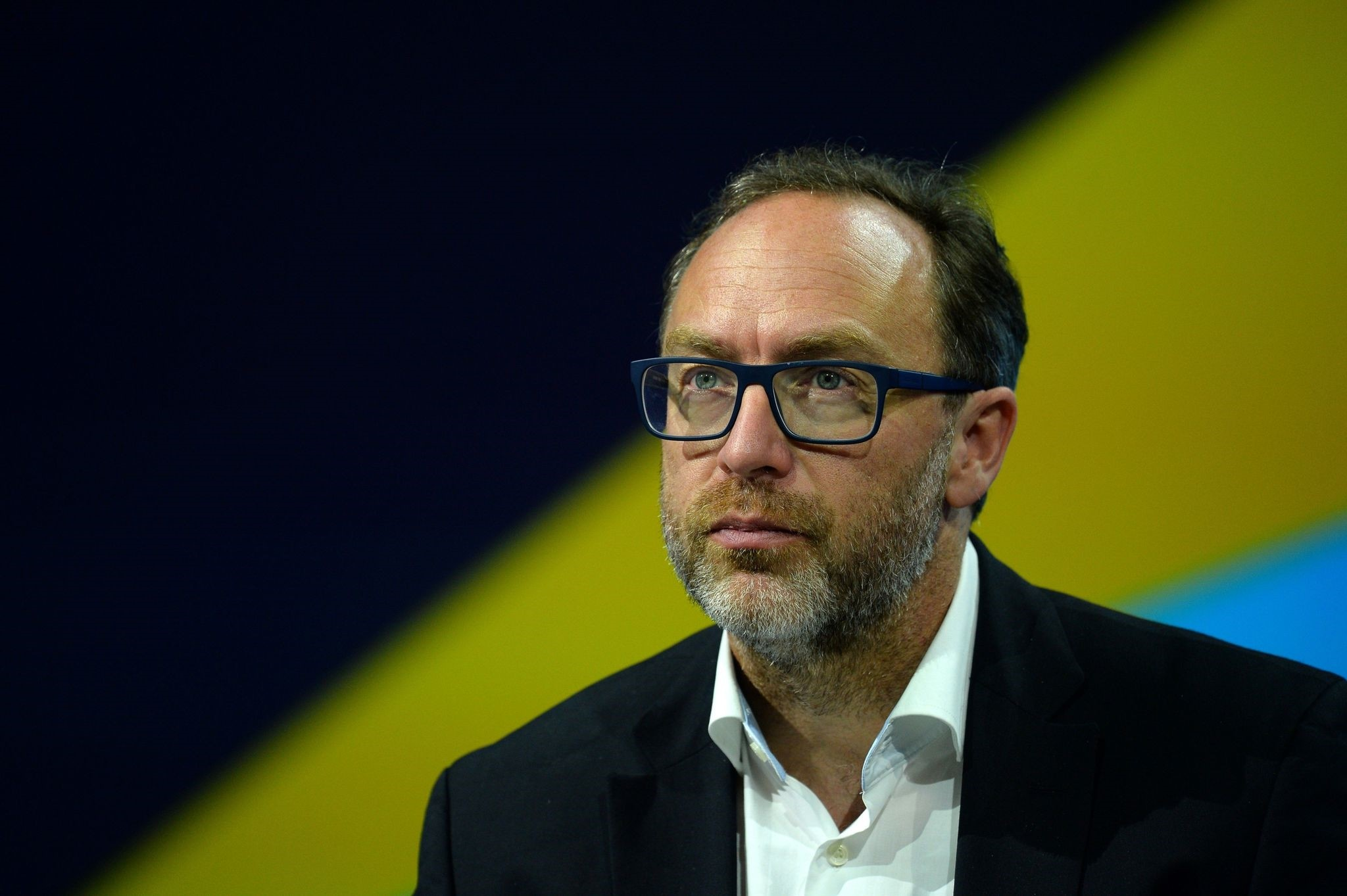 This file photo taken on June 30, 2016 shows Jimmy Wales, co-founder and promoter of the online non-profit encyclopedia Wikipedia attends the Viva Technology event in Paris. (AFP Photo)