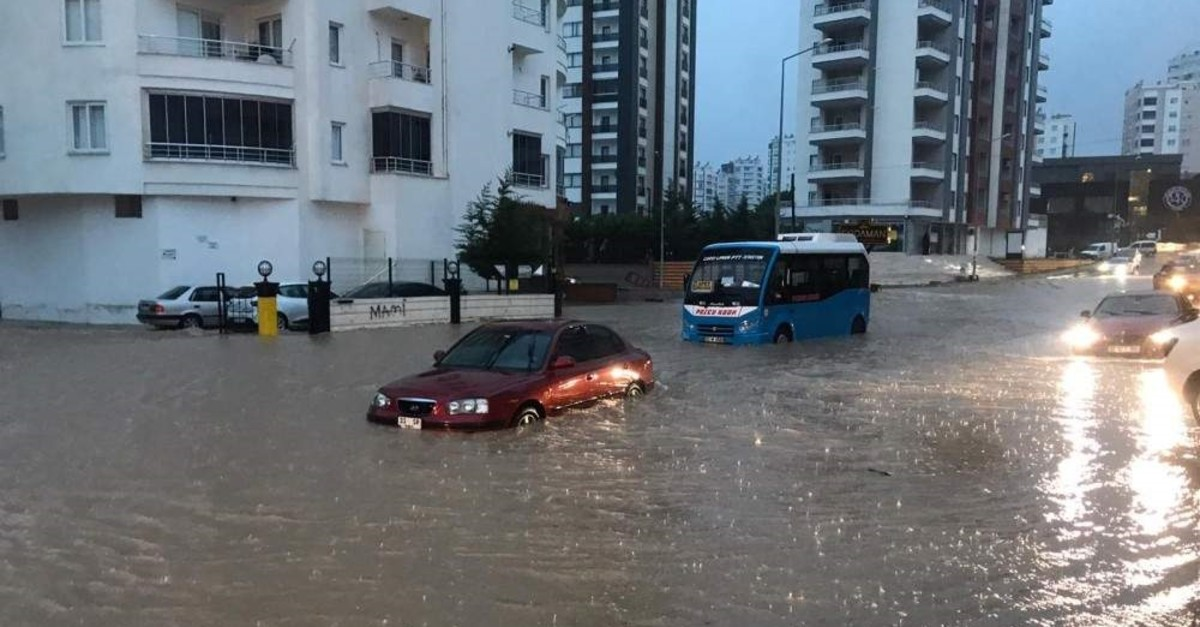 Floods hit the southern province of Mersin at the beginning of the week. (AA Photo)