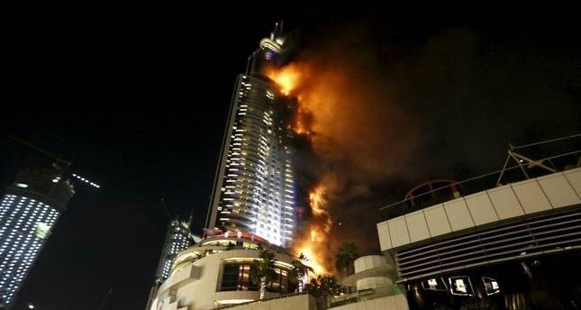 The tower was also enveloped by fire in 2015 (Reuters Photo)