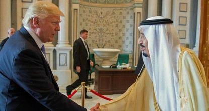 pSending a tough message to Tehran shortly after pragmatist Hassan Rouhani was re-elected president, U.S. President Donald Trump urged Arab leaders to unite to defeat militants, and said Iran had...