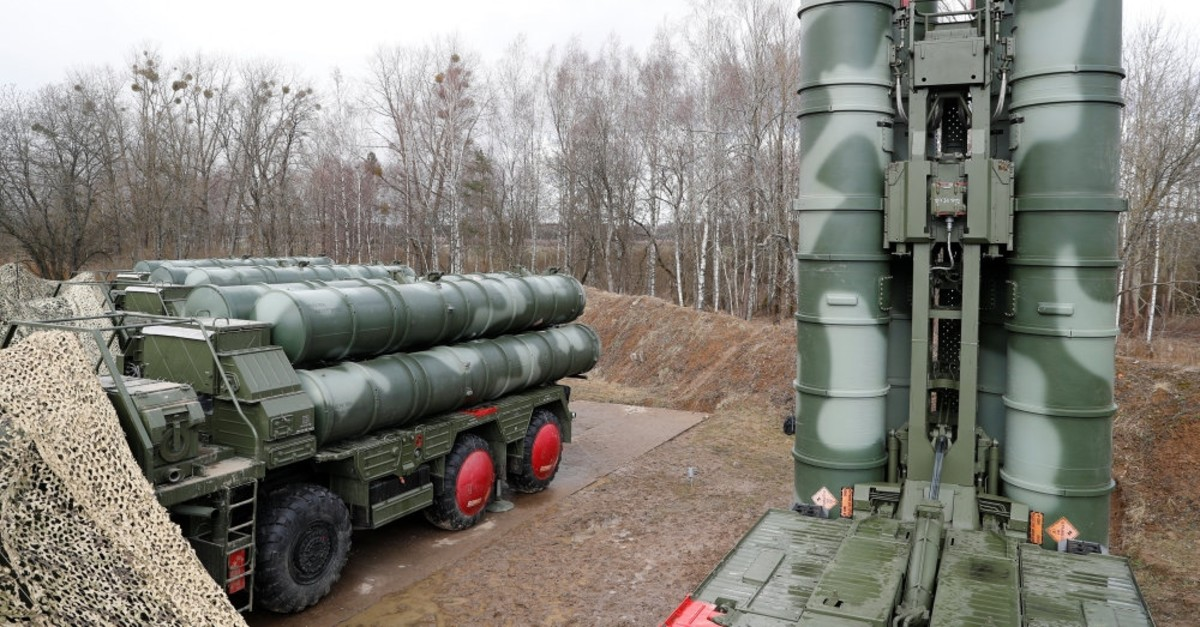 A view shows a new S-400 ,Triumph, surface-to-air missile system after its deployment at a military base outside the town of Gvardeysk near Kaliningrad,  March 11, 2019.