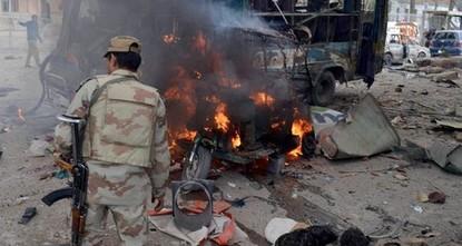 9 قتلى في هجومين استهدفا نقطة شرطة في باكستان
