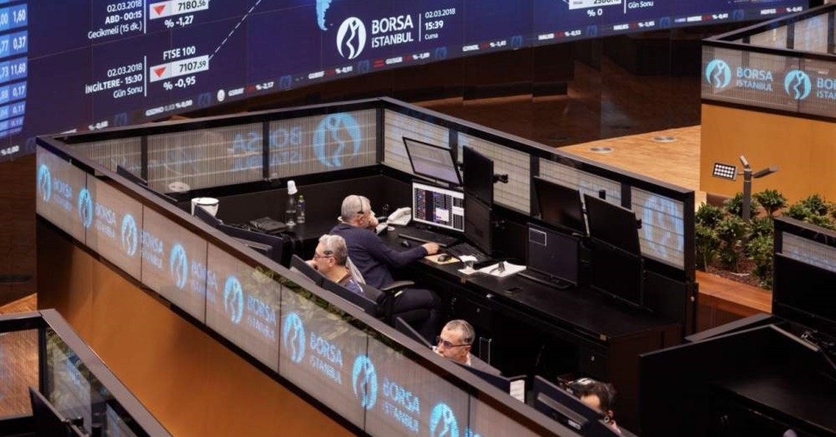 In this undated file photo, traders are seen working at their desks on the floor of Borsa Istanbul. (?HA Photo)