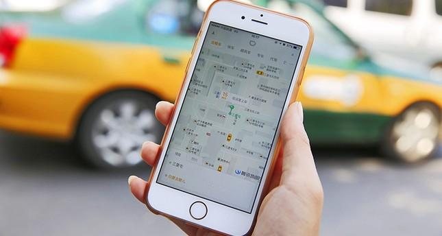 Die Didi Chuxing app auf einem Iphone in China (EPA Foto)