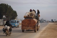Half a million Syrians have fled toward Turkish border since November