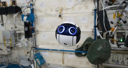 pThe Japan Aerospace Exploration Agency (JAXA) has for the first time released photos and videos taken by the Internal Ball Camera, or simply Int-Ball, a drone on the International Space Station...