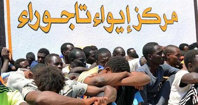 مركز إيواء لاجئين في ليبيا (الفرنسية)