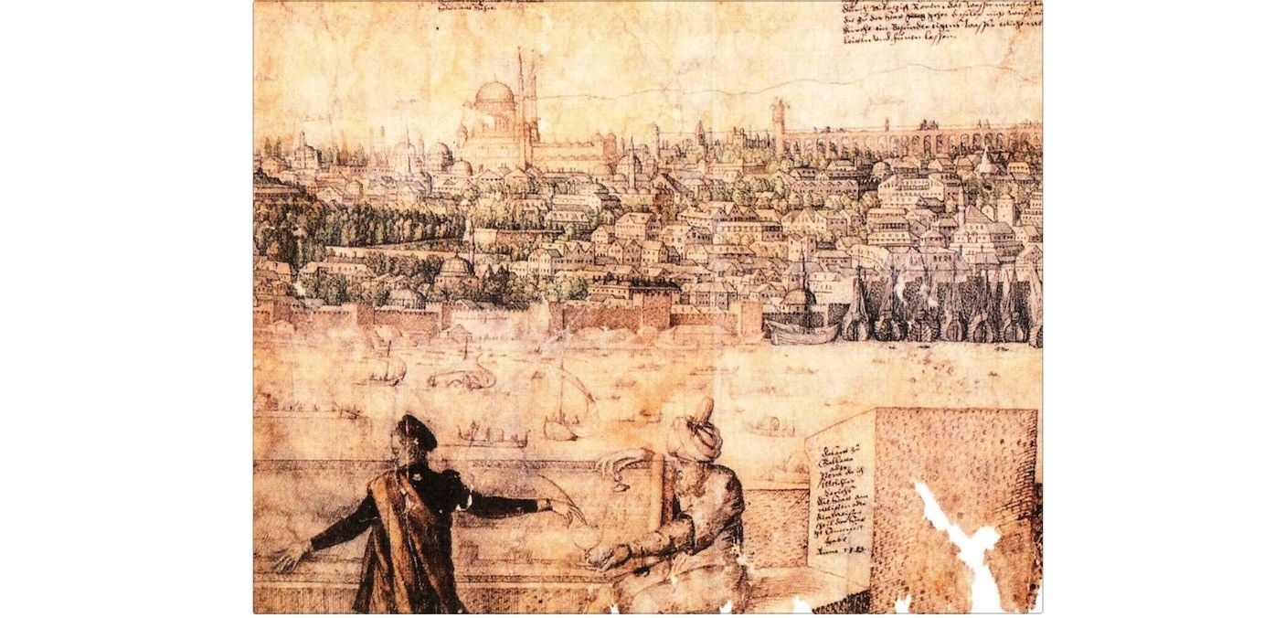 Melchior Lorck sought to capture the scale of 16th century Istanbul with a 1145-centimeter-long magnum opus topographic drawing, which also features his first self-portrait.