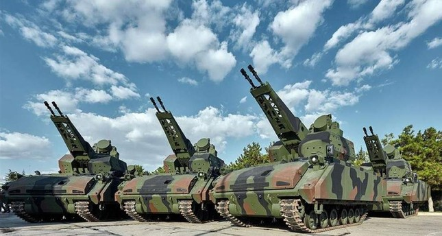 The Turkish Armed Forces received 10 more self-propelled Korkut Air Defense Gun Systems, which were domestically developed by Turkey's leading defense company Aselsan. (AA Photo)