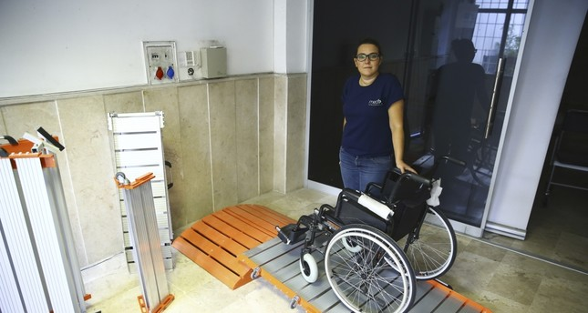 Exporting handicap ramps to seven, Melisa Tasacı is also one of the youngest members of the Women's Entrepreneurs' Association.