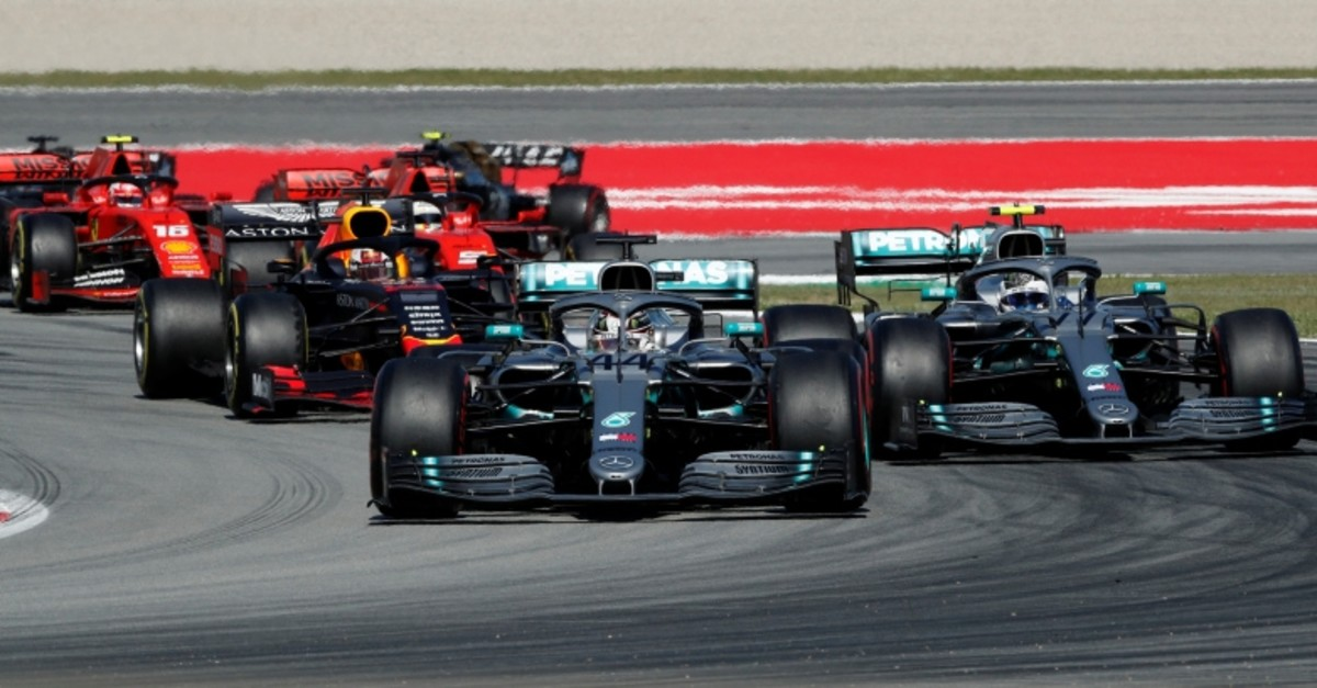 This file photo shows Mercedes driver Lewis Hamilton in action with his teammate Valtteri Bottas during the Formula One Spanish Grand Prix at the Circuit de Barcelona-Catalunya, Barcelona, Spain, May 12, 2019. (Reuters Photo)