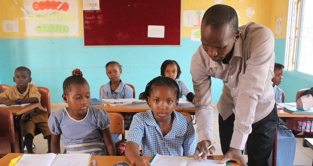 Student at a Maarif school in Guinea, which was the first country to hand over the FETÖ schools to Maarif Foundation.
