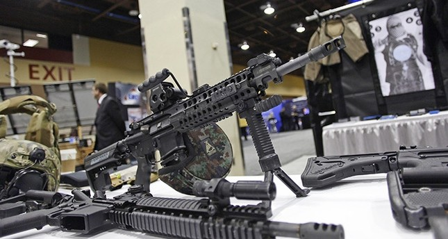 An AR-15 style rifle is displayed at the 7th annual Border Security Expo in Phoenix, Arizona, in this file photo taken March 12, 2013. (Reuters Photo)