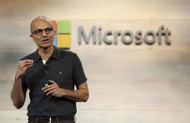Microsoft CEO Satya Nadella speaks during a Microsoft cloud briefing event in San Francisco, in this file photo taken October 20, 2014. (REUTERS Photo)
