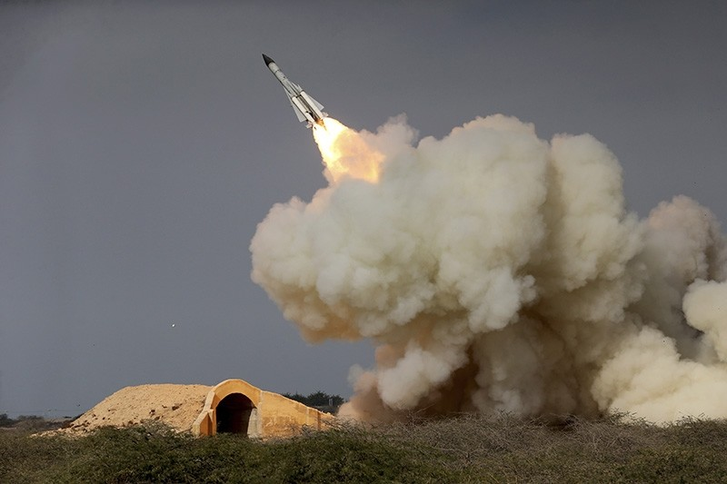 In this Dec. 29, 2016 file photo, released by the semi-official Iranian Students News Agency (ISNA), a long-range S-200 missile is fired in a military drill in the port city of Bushehr, on the northern coast of Persian Gulf, Iran. (AP Photo)